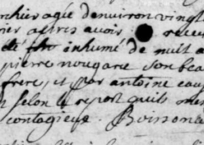 Généalogie Anecdotes Registre Auxillac Canourgue 1721 Acte Sépulture Peste