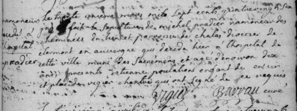 Généalogie Anecdotes Registre Marvejols 1786 Sépulture Enfant Ramoneur