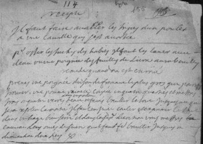 Généalogie Anecdotes Registre Trélans 1699 Note Recettes