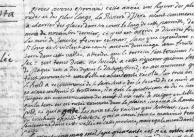 Généalogie Anecdotes Registre Saint-Pierre-d'Albigny 1740 Climat Hiver