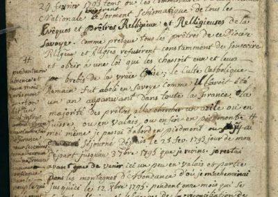 Généalogie Anecdotes Bonne 1796 Révolution Exil