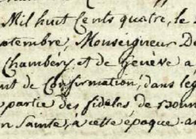 Généalogie Anecdotes Bonne Haute-Savoie Religion Confirmations