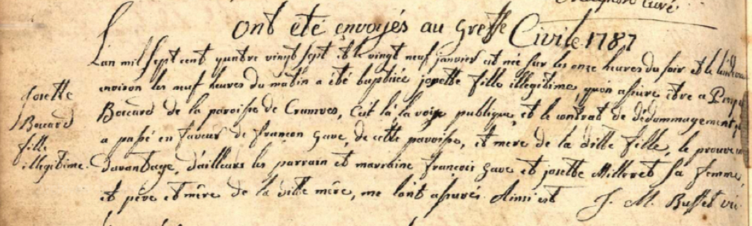 Généalogie Anecdotes Bonne 1787 Sanctions Dédommagements