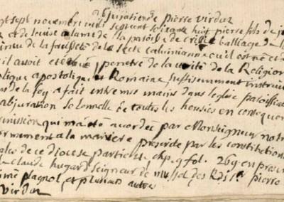 Généalogie Anecdotes Cluses 1768 Religion Abjurations
