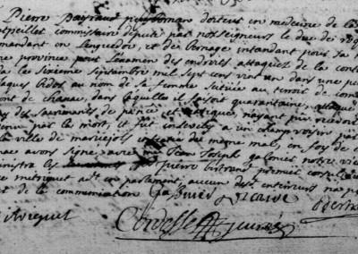 Généalogie Anecdotes Chanac 1721 Epidémies Peste