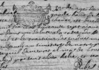 Généalogie Anecdotes Registre 1687 Esclanèdes Accidents Noyades