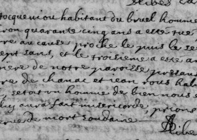 Généalogie Anecdotes Registre Esclanèdes Lozère 1700 Accidents Foudre