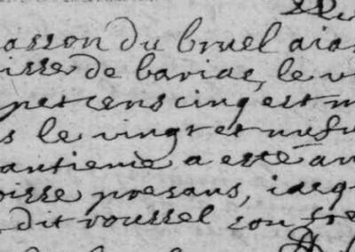 Généalogie Anecdotes Esclanèdes 1705 Crimes