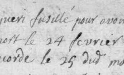 Généalogie Anecdotes Fournels 1722 Peste Fusillés