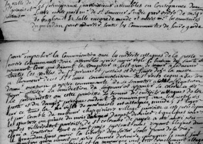 Généalogie Anecdotes Javols 1721 Épidémies Peste