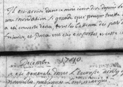 Généalogie Anecdotes Registre Saint-Pierre-d'Albigny 1740 Catastrophes Inondation